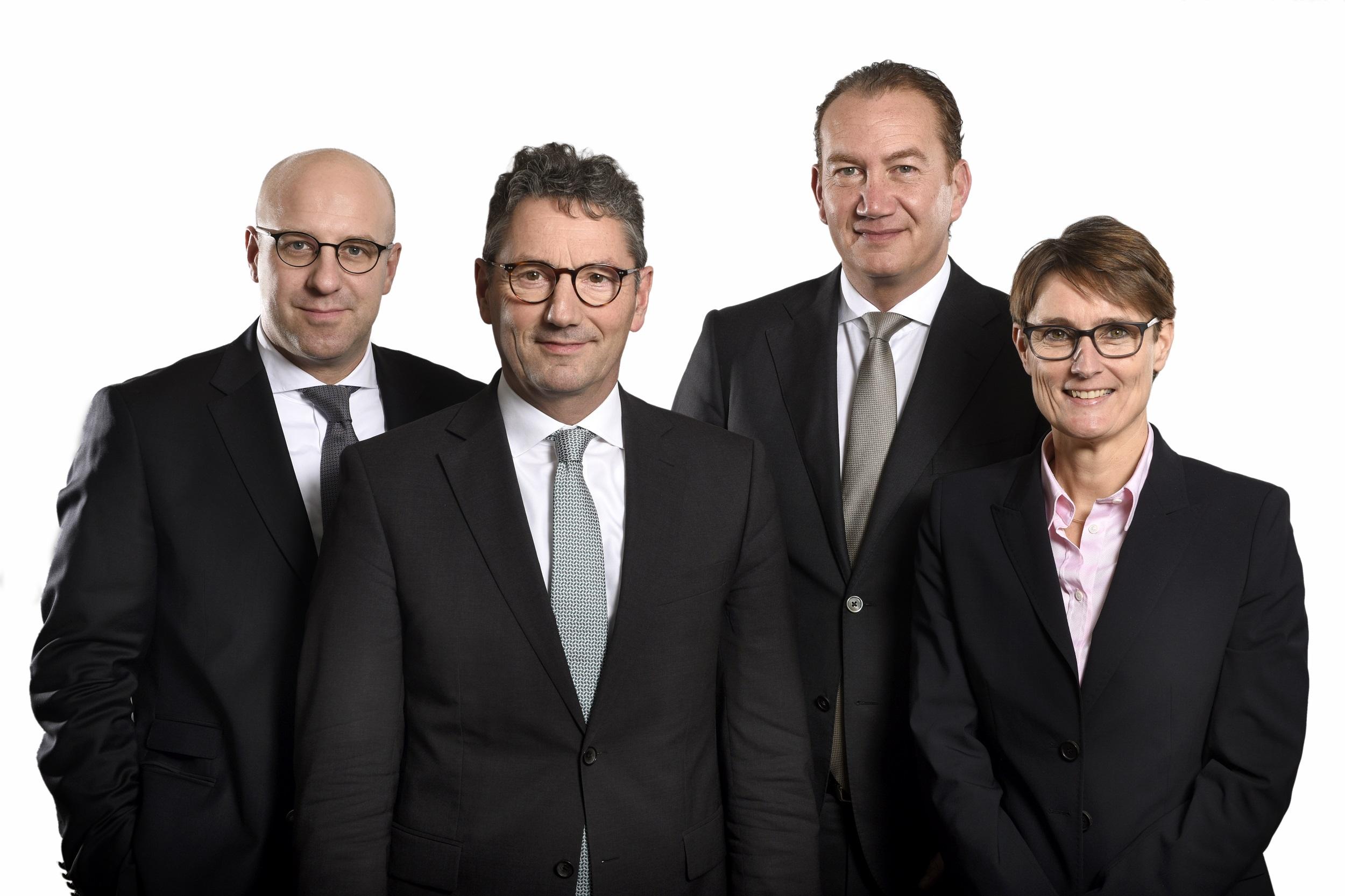 Vorstaende EK servicegroup,v.l.M.Richrath, F-J. Hasenbrink, St. Evers. S. Sorg